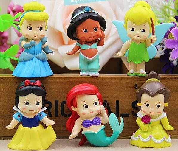 Бесплатная доставка 6 шт./лот высокое качество пвх мода мультфильм аниме принцесса рисунок брелок красивая девушка подарок сумочка подвески, принадлежащий категории Игрушечные фигурки и относящийся к Игрушки и хобби на сайте AliExpress.com   Alibaba Group