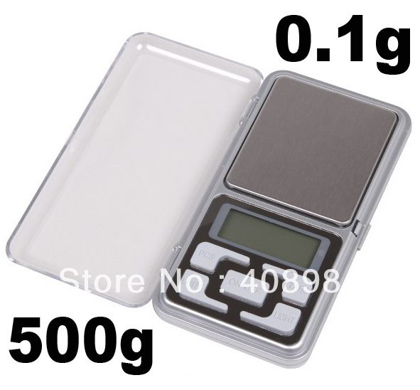 100pcs fedex DHL 500g 0.1g Diamond Pocket Digital Jewelry scales With backlight factory price