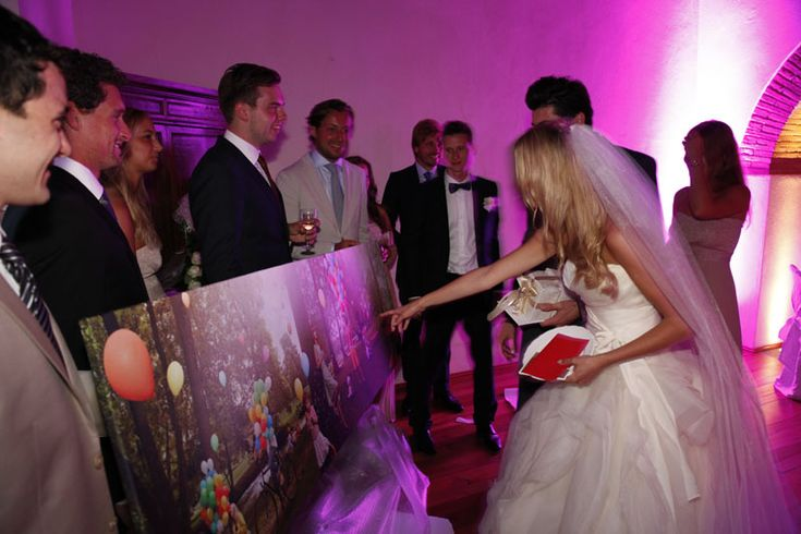 Wedding entertainment at a wedding party