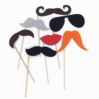 Disguises on sticks, great for photos.