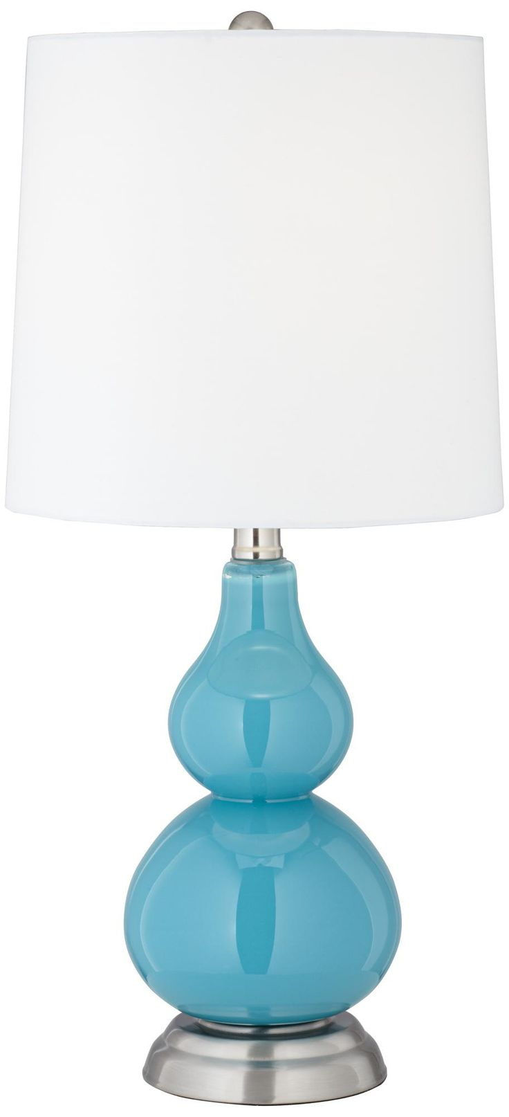 turquoise blue small gourd accent table lamp mother 39 s day gift. Black Bedroom Furniture Sets. Home Design Ideas