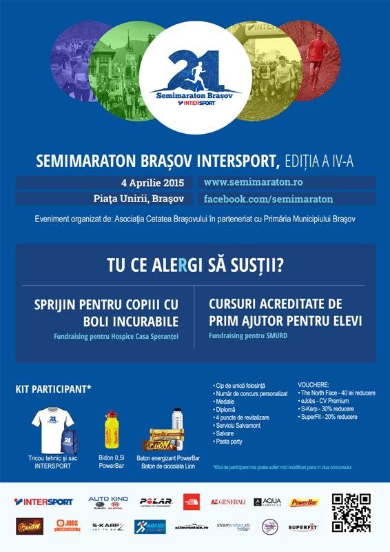 M-am inscris la Semimaraton Brașov Intersport 2015!