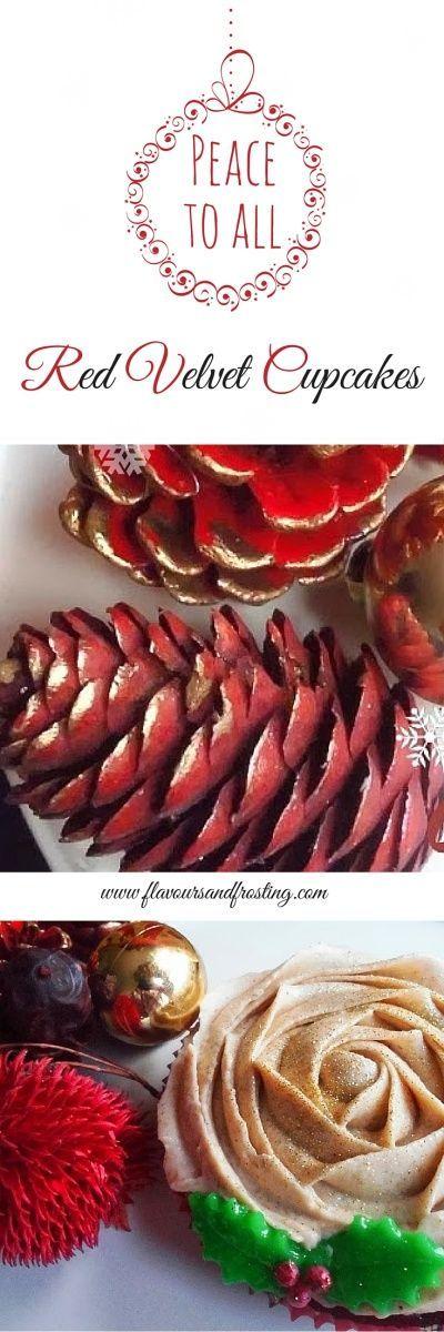 Red Velvet Cupcakes with Cinnamon Frosting  Ein neues Rezept für euch auf unserem Pinterest Board. Viel Spass beim backen und naschen. Bitte lasst ein Like da wenn euch das Rezept gefällt!