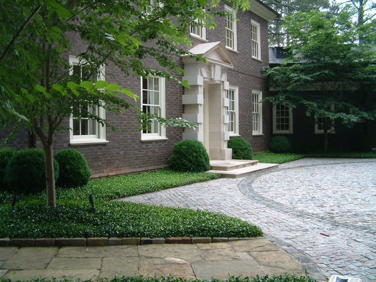 Cobble Motor Court For Traditional English House By Howard Design Studio.