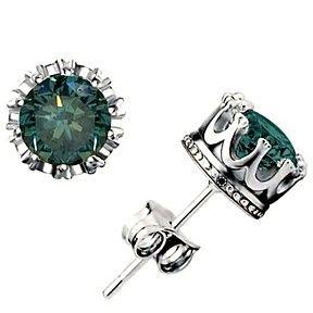 1/2Ct Genuine Moissanite 14K White Gold Over Basket Stud Earrings $999 by JewelryHub on Opensky