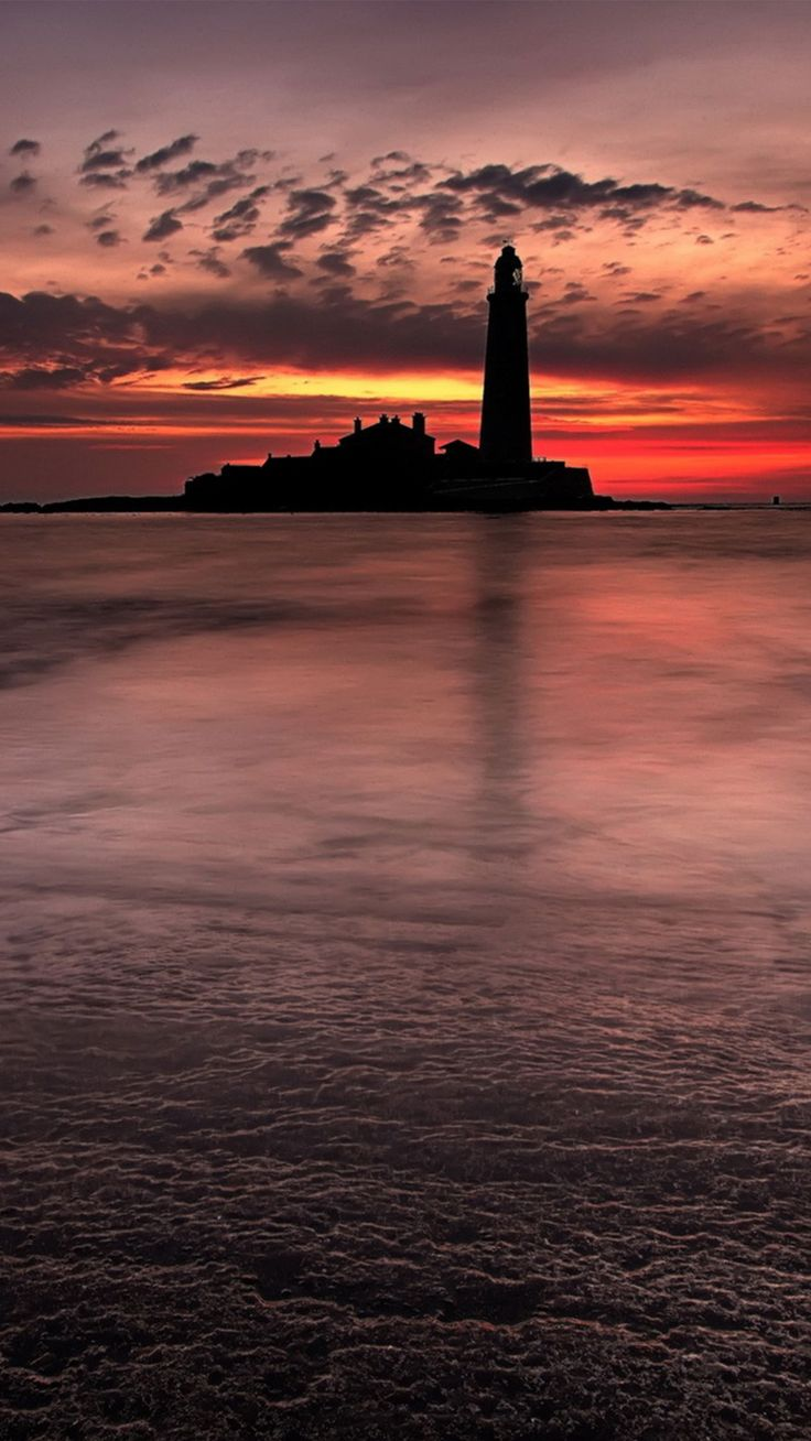 Sunset lighthouse wallpaper for #Iphone and #Android #wallpaper #nature check out on wallzapp.com