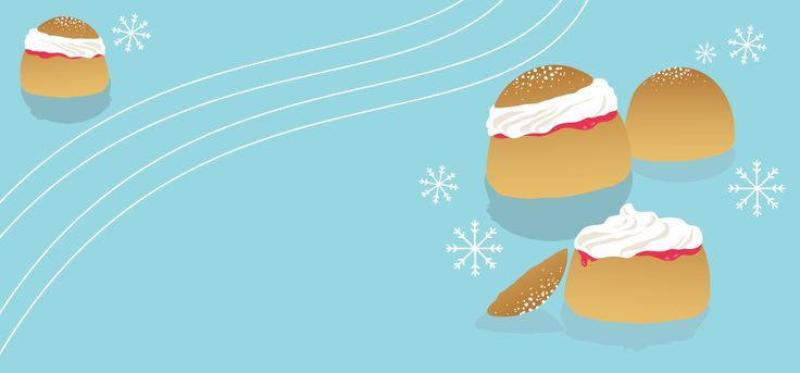 Winter (Lenten) Greetings from Piirre Collective. During Lent it's traditional in Finland to enjoy buns with whipped cream.