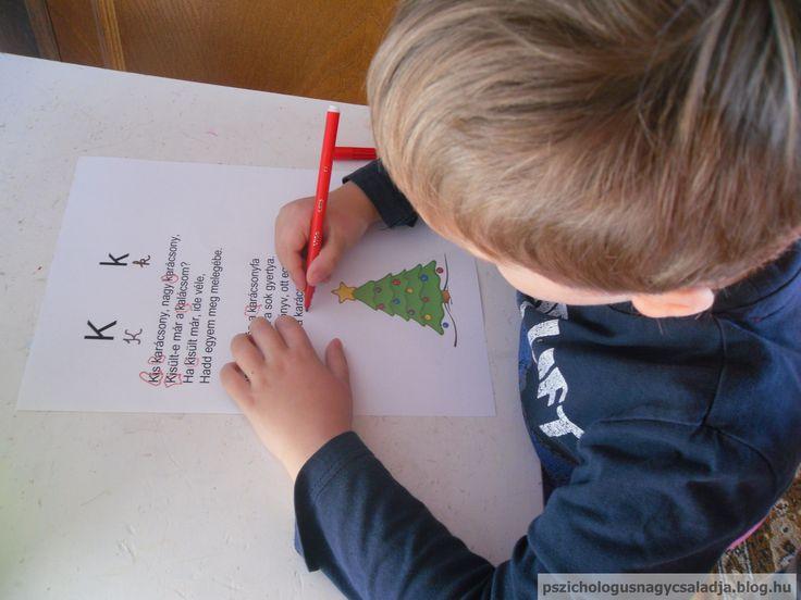 Ismerkedés a K betűvel: keresd a K betűt - K, mint karácsony
