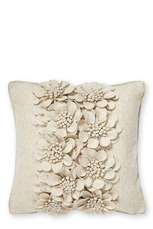 Buy Felt Flower Cream Cushion From The Next UK Online Shop