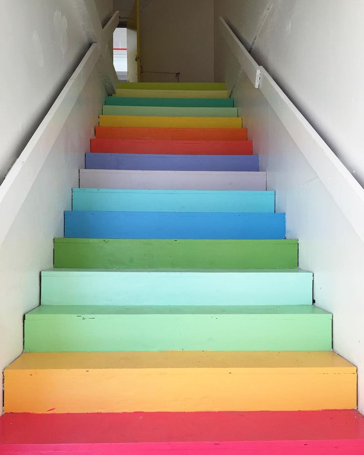 OK, so technically not clothing - but I think we have something in each one of these colours in-store now! www.gentlyelephant.co.uk Painting rainbow stairs is more complicated than you would think.