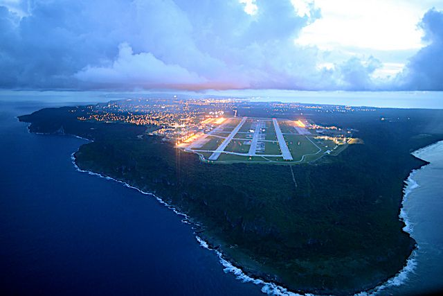 Aerial View of Anderson AFB and Ritidian Point, Guam