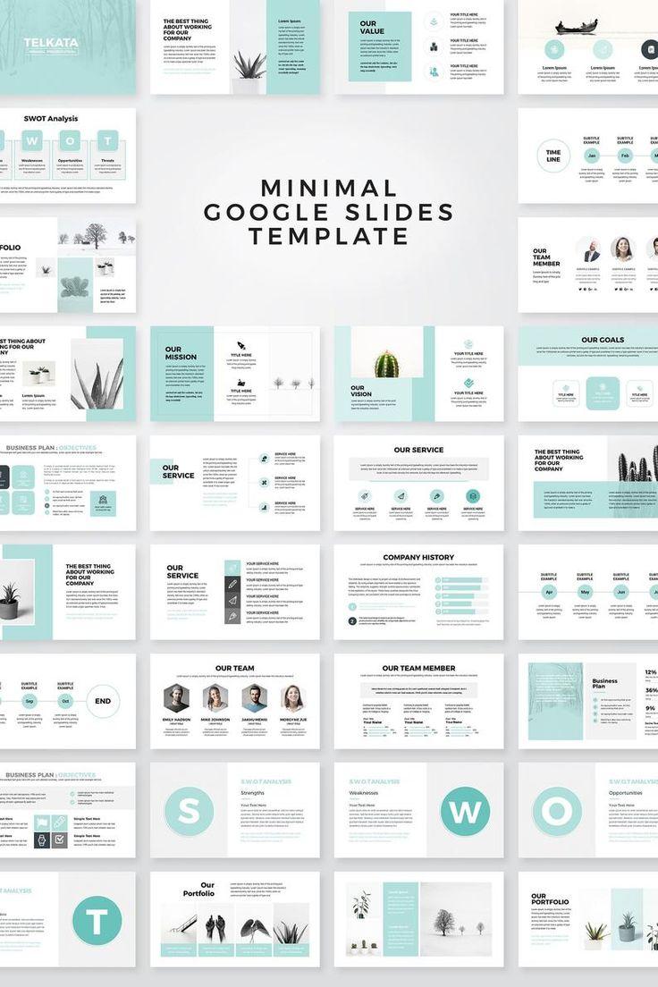 Modern Business Plan Google Slides Template, Editable