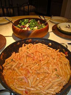 Growing up in an Italian family, when I think comfort food I think of a big bowl of pasta. My Penne alla Vodka delivers just that.. its cre...