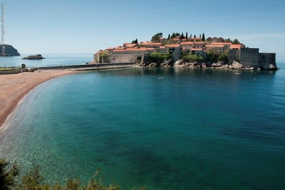 The elite 'island hotel' resort of Sveti Stefan in Montenegro. Read more about it in the Sveti Stefan Blog. Photo Credit: Luigi Torreggiani