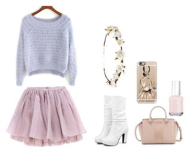 """""""Shein contest and ballet inspired"""" by isabelle071102 on Polyvore featuring Olympia Le-Tan, Cult Gaia, Casetify, MICHAEL Michael Kors and Essie"""