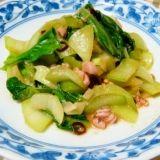 チンゲン菜のガーリック塩辛炒め レシピ・作り方 by marly_recipe|楽天レシピ