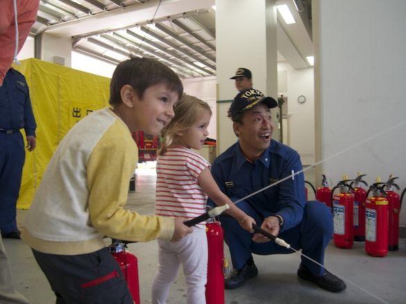 Au Japon, dans une caserne de pompier