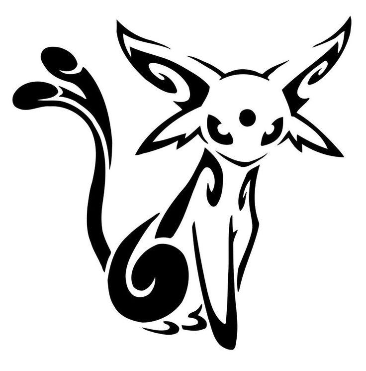 Espeon Tattoo Pokemon Idea Black MNS Pinterest