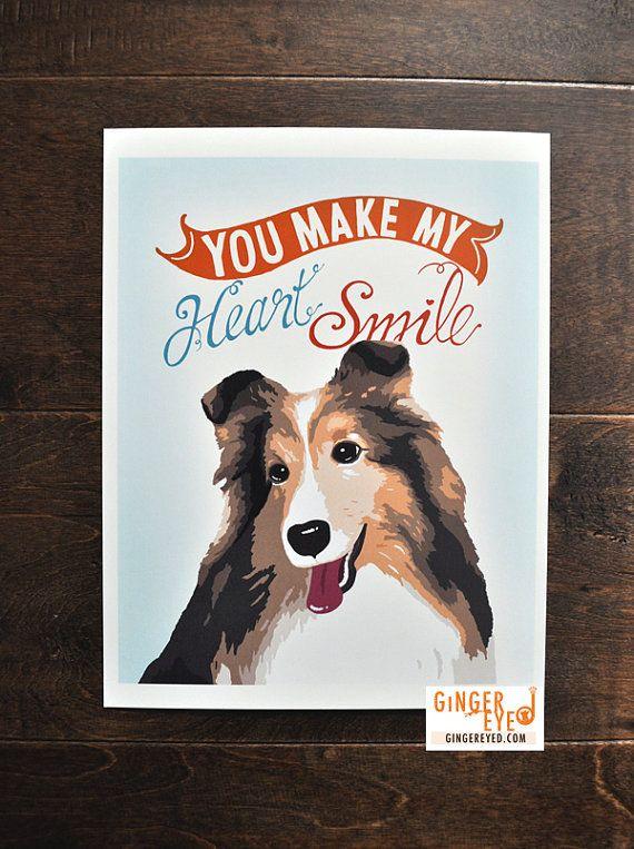 Shetland Sheepdog Poster Sheltie Dog Collie You Make by gingereyed, $12.00