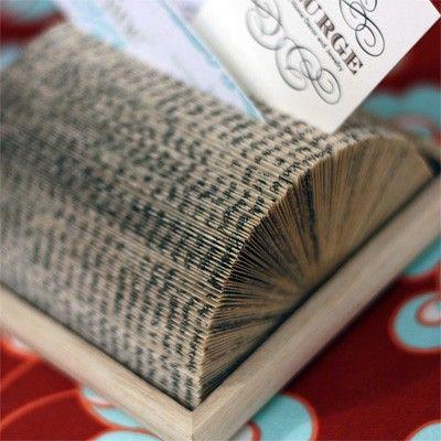 Boek-visitekaartjeshouder. #harlequin #boeken