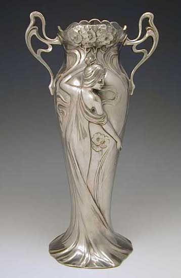 WMF Art Nouveau Maiden Vase