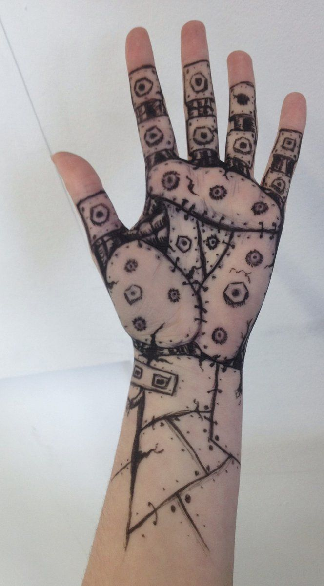 hand draw robot cool drawings designs drawing arm sharpie fingers hands tattoos google doodles drawn finger skin gauntlet