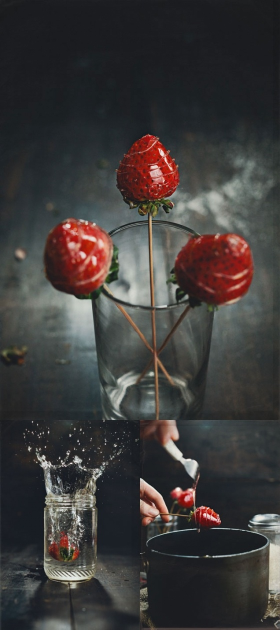 Candied Strawberries. Fabulous site.