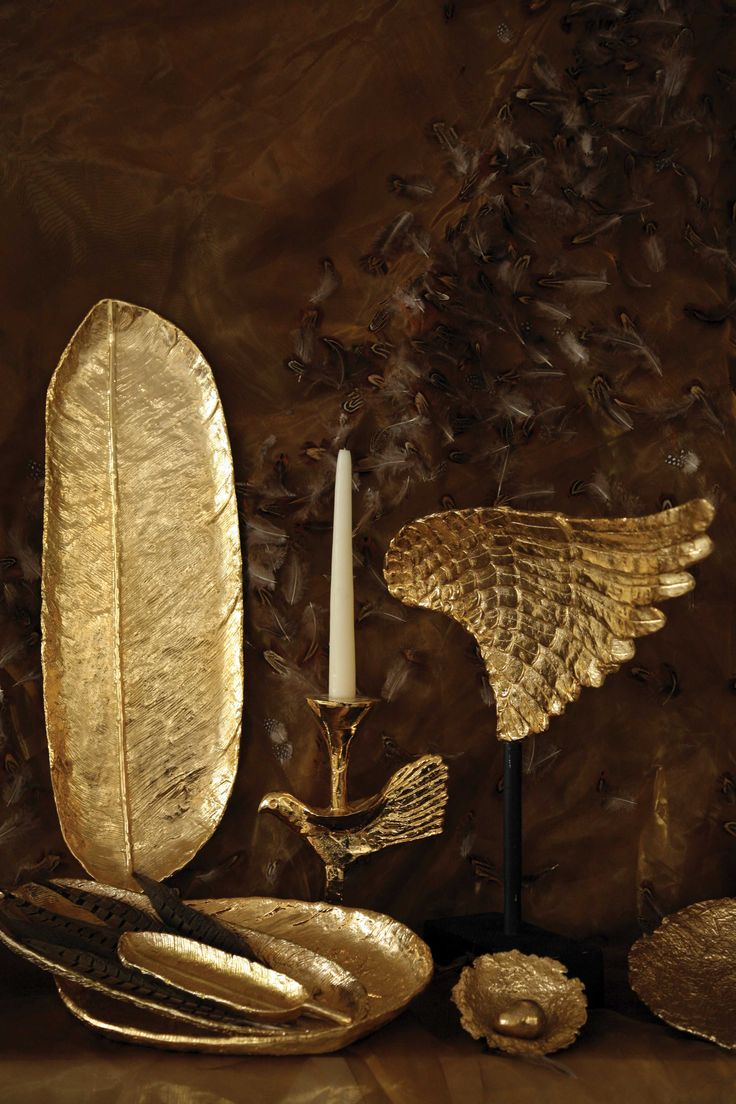 Feather Collection in gold and silver with Nima Oberoi Lunares