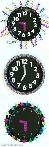 New Year's Eve Countdown Clock for Kids (Kids will love counting down the hours until the new year!)~ BuggyandBuddy.com