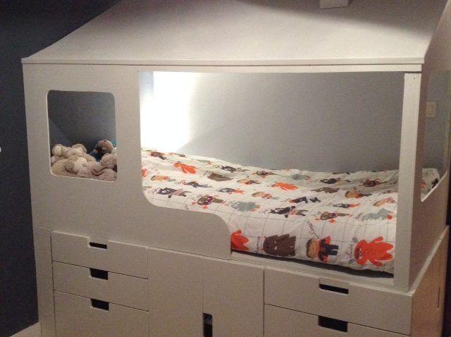 2 en 1 : Lit cabane enfant + rangements ! - Bidouilles IKEA