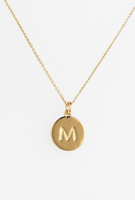 "Brides.com: . Kate Spade ""One in a Million"" initial pendant necklace, $58, Nordstrom"