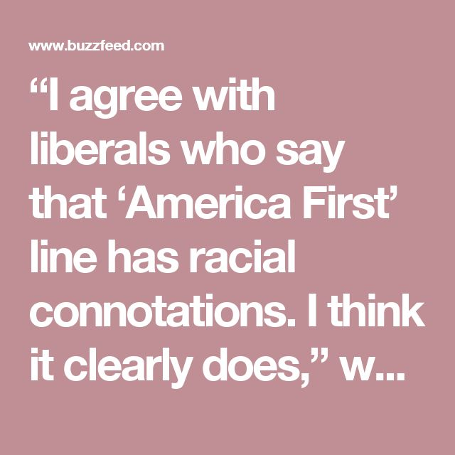 """""""I agree with liberals who say that 'America First' line has racial connotations. I think it clearly does,"""" white nationalist Richard Spencer said."""