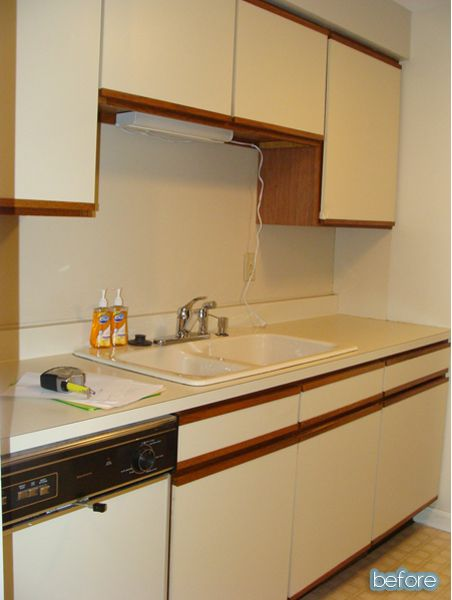 41 best images about kitchen redo on pinterest galley for Small condo kitchen makeover