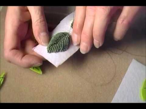 Video:Raised Bead Embroidery Modified #Seed #Bead #Tutorials