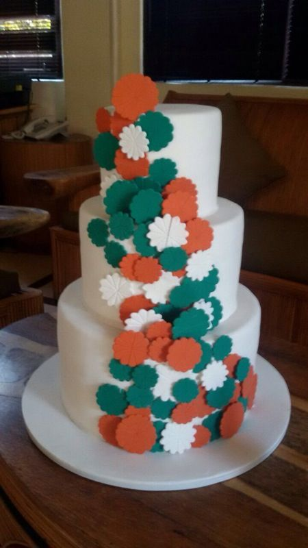 Three Tiered Fan Cake