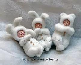 Ирина Полякова живые игрушки (Agamak) agamak.livemaster.ru. елочные игрушки, куклы.