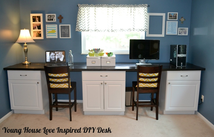 Young House Love Inspired Office Desk via Life On The Homestead Blog