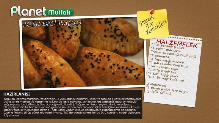 """""""Pratik Ev Yemekleri"""" programında Sevim Malkadı'nın seçtiği ve programında sizler için yaptığı """"Mahlepli Poğaça"""" tarifi."""