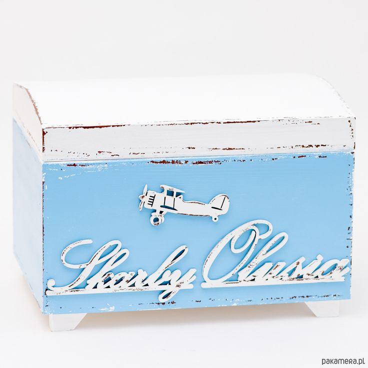 pokój dziecka - pojemniki na zabawki-Kufer z imieniem