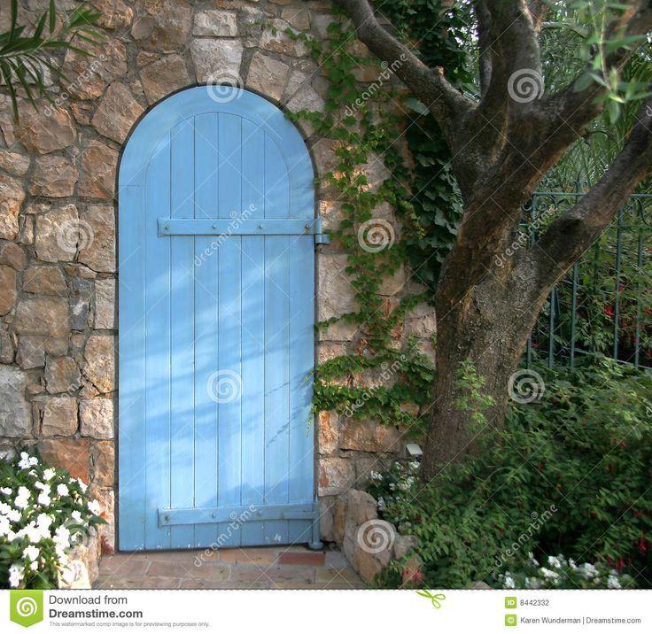 De blauwe Deur van de Tuin, Frankrijk