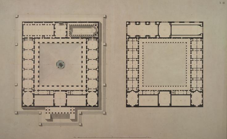 Edificio per uso di accademia di belle arti piante dei due for Piani di costruzione dell edificio