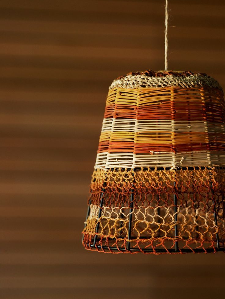 Woven Basket Lamp : Best images about lampshades woven on yarns