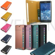 Synthetic Leather Window View Flip cover wallet case for Galaxy Note Edge N915