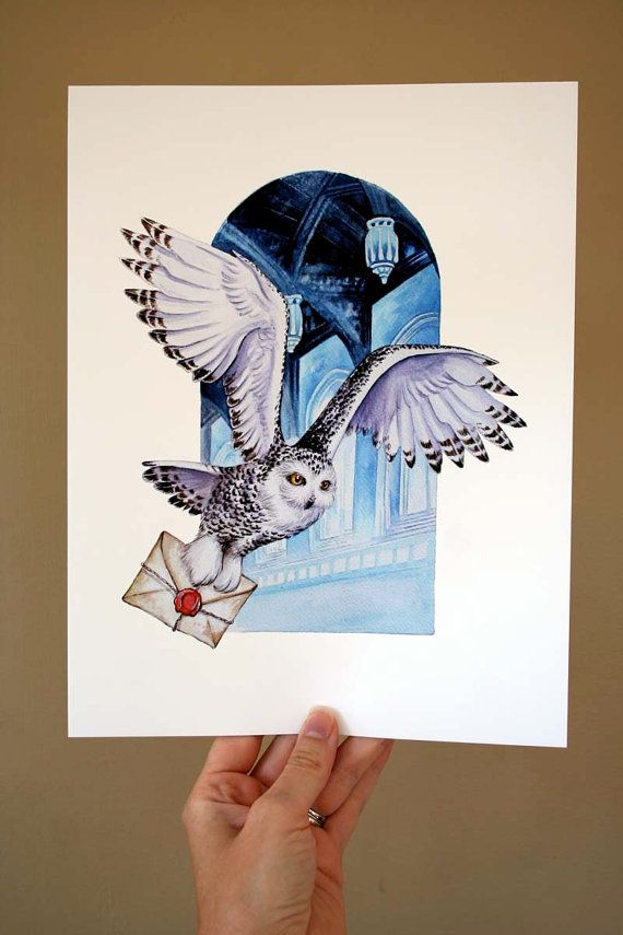 Owl Mail ! Archival quality print, based on the original watercolor – Kim K