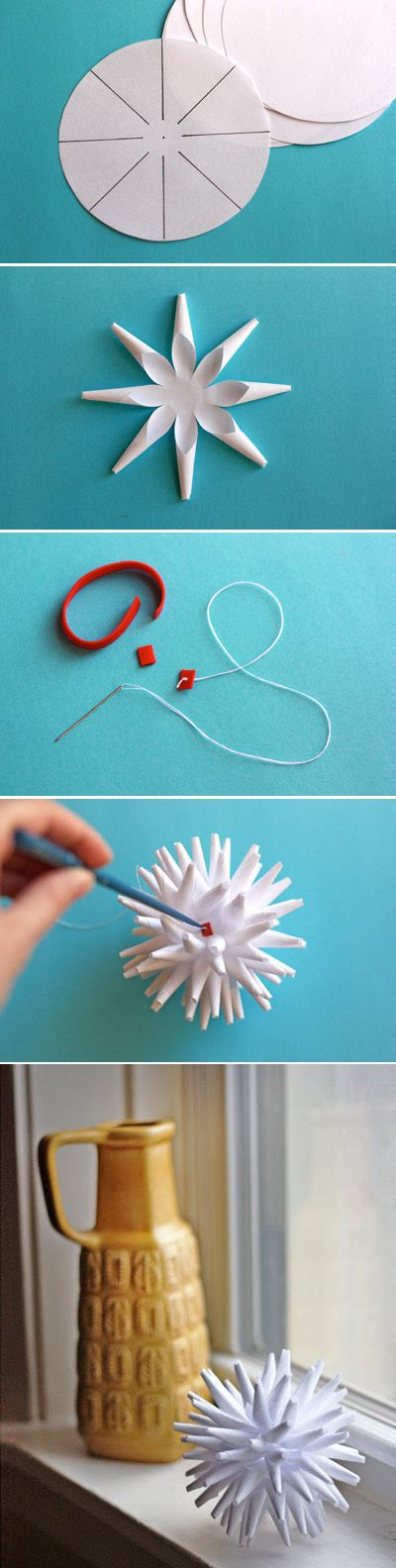 Modern Paper Porcupine Ornament / 40 DIY Home Decor Ideas That Aren't Just For Christmas