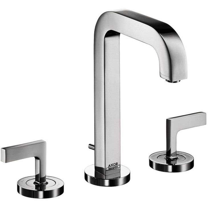 Perfect Hansgrohe Axor Citterio Chrome (Grey) Widespread Faucet With Lever Handle ( Chrome) Design Inspirations