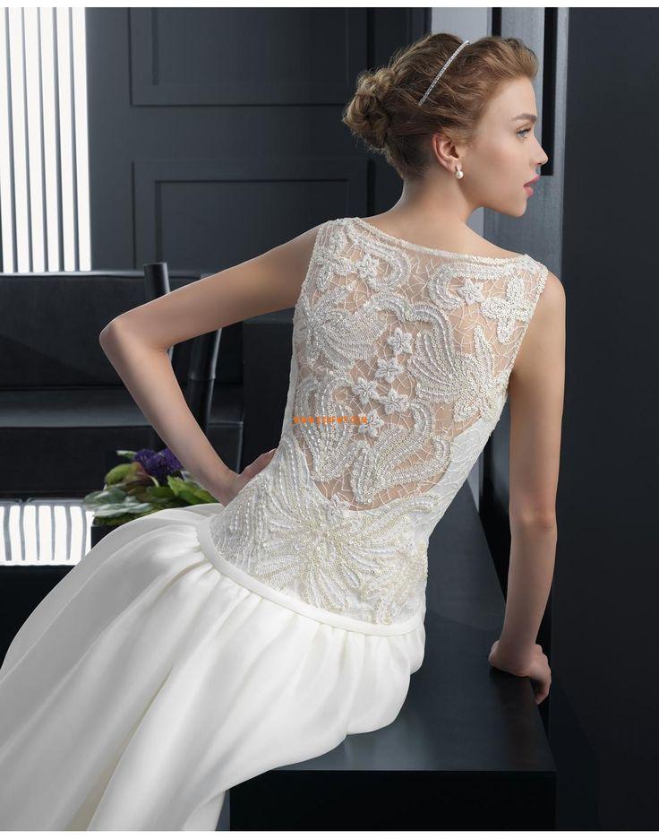 A-vonalú Organza Természetes Menyasszonyi ruhák 2015