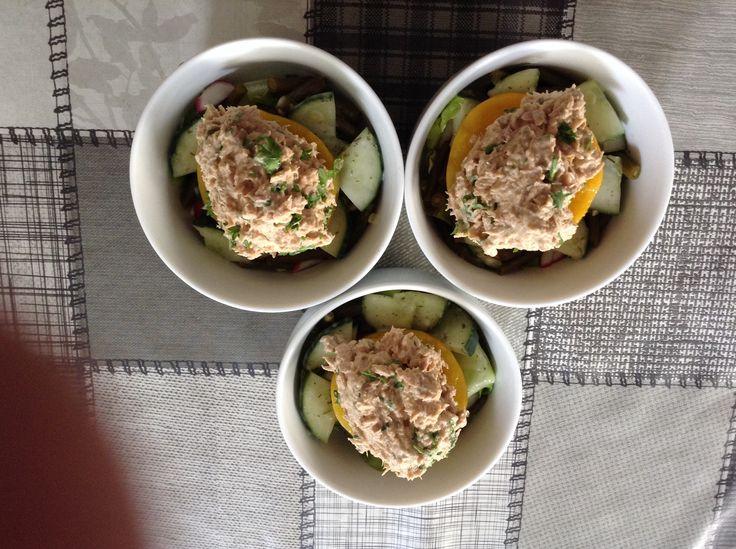 Perzik gevuld met tonijn volgens recept Jeroen Meus