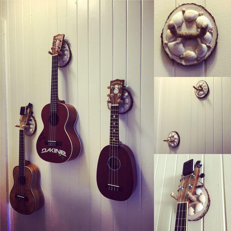 Diy ukulele and guitar wall hangers guitar wall hanger