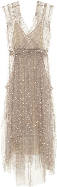 LELA ROSE Polkadot Tulle Dress Vintage style www.finditforweddings.com